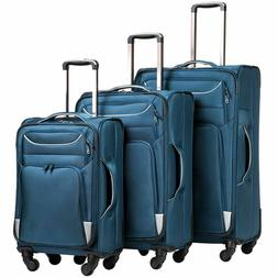 Coolife 10441997 Blue Luggage - 3 Pieces