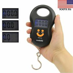 Digital Luggage Scale Hand Held Checked Airport Baggage Bag Carry On LCD 110 lb