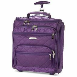 """16.5"""" Underseat Women Luggage Carry On Suitcase - Small Roll"""