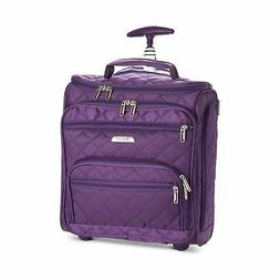 """16.5"""" Underseat Women Luggage Carry On Suitcase Small Rollin"""