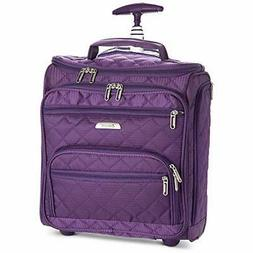 """16.5"""" Underseat Women Luggage Carry Suitcase Small Rolling T"""
