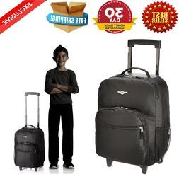 Rockland 17 ROLLING BACKPACK BLACK R01-BLACK Luggage Bag NEW