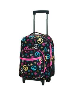 ROCKLAND 17 ROLLING BACKPACK PEACE