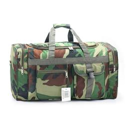 """24"""" Inch Duffle Bag Black Carry on Suitcase Lightweight Shou"""