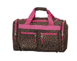 19Inch Luggage Tote Bag Leopard Suitcase Duffle Travel Carry