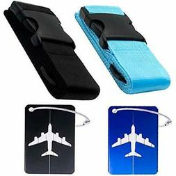 2 Pack Luggage Straps With PackLuggage Tags Straps