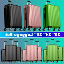 20'' 24'' 28'' 3 pieces luggage travel set bag suitcase with