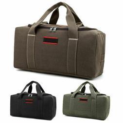 "22/26"" Men Overnight Canvas Travel Duffel Bag Weekend Duffle"
