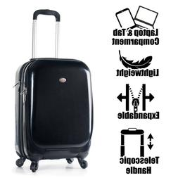 "22"" Carry on Travel Luggage Lightweight Hardside Laptop Tabl"