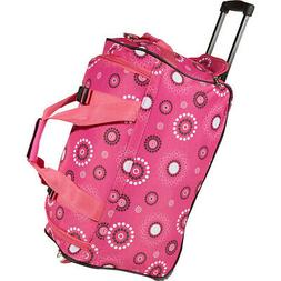"""Rockland Luggage 22"""" Rolling Duffle Bag 30 Colors Softside C"""