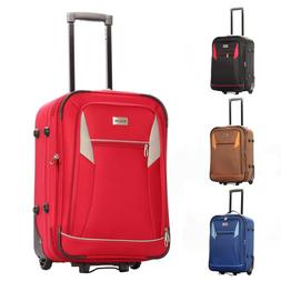 """22"""" Spinner Carry-On Luggage Hard Lightweight Case Four Whee"""