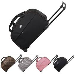 """24"""" Rolling Wheeled Tote Duffel Suitcase Carry On Trolley"""
