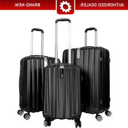 Deco Gear 3 Pc Luggage Set Hardside Spinner Suitcase Travel