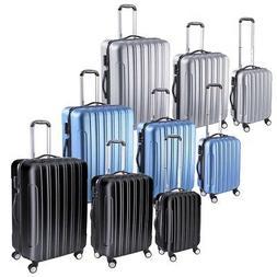 3 Piece Travel Luggage Set Fashion Hardside 360° Rolling Su