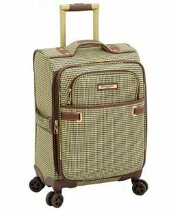 """$320 New London Fog Oxford II 20"""" Soft Spinner Suitcase Carr"""
