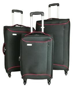 3Pc Luggage Set Travel Bag Rolling 4Wheel CarryOn Expandable