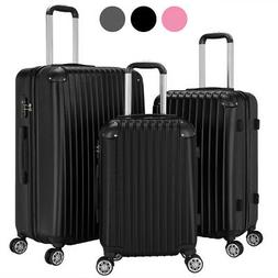 3Pcs ABS Travel Luggage Sets Business Suitcase Trolley With