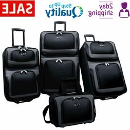 4 Large Travel Bags With Wheels Set Luggage For Women Man An