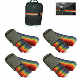 New 4 Travel Luggage Suitcase Strap Baggage Backpack Bag Rai