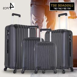 4 piece luggage set trolley travel suitcase