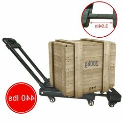 440 lbs 200kg Folding Cart Hand Collapsible Trolley Luggage