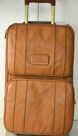 $4495 NEW Ghurka Rolling Suitcase Luggage COGNAC BROWN CHEST
