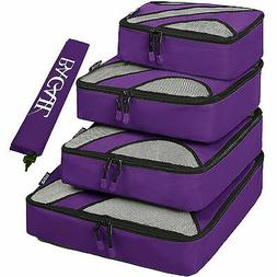 5 Set Travel Packing Cube Luggage Organizers Storage Bag Lau
