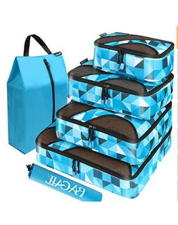 6 Set Packing Cubes Travel Luggage Organizers Laundry Bag HI