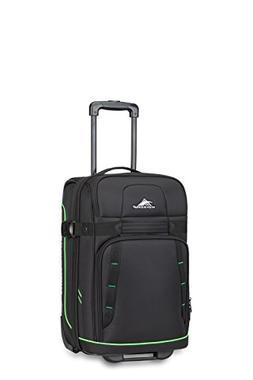 High Sierra Evanston Carry On Upright Luggage, Black/Lime Gr
