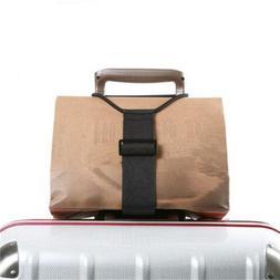 Add A Bag Strap Travel Luggage Suitcase Adjustable Belt Carr