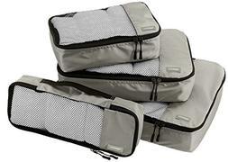 AmazonBasics 4-Piece Packing Cube Set - Small Medium Large a