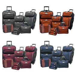 Amsterdam 8-Piece Light Expandable Rolling Luggage Suitcase