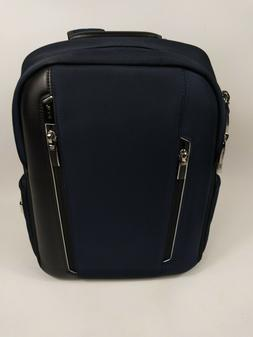TUMI Arrive Logan LAPTOP Backpack - BLUE & BLACK LEATHER - 2