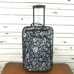 American Tourister Black Floral Travel Carry-on Luggage Whee