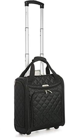 carry on under seat wheeled telescopic trolley