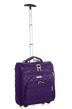 carry on under seat wheeled trolley luggage