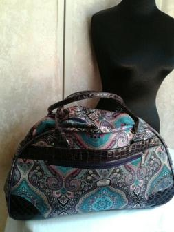 Ciao! Rolling Duffle Bag NWOT Overnight Carry on Wheeled Pur