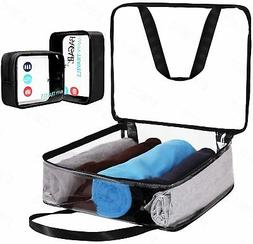 Bagail Clear PVC Toiletry Bag Heavy Duty Carry on Luggage Or