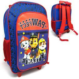 Paw Patrol Deluxe Kids Luggage Trolley Backpack Cabin Bag Su