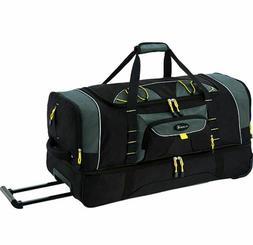 Duffel Bag With Wheels 36 Big Women Men 2 Section Rolling Lu