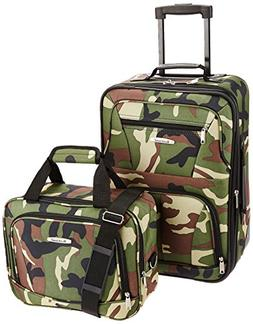 Rockland Expandable Camouflage 2-piece Lightweight Carry-on