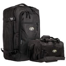 extremepak 2 piece carry on luggage set