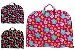 Floral Cotton Quilted Lightweight Garment Bag Carry On Lugga