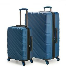 Gilmore 2-Piece Navy Expandable Hardside 4-Wheel Spinner Lug