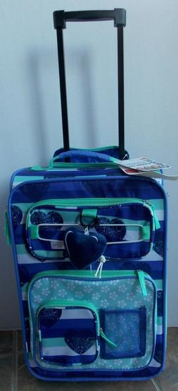 girls hearts kids rolling luggage carry on