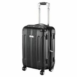 """GLOBALWAY Expandable 20"""" ABS Carry On Luggage Travel Bag Tro"""