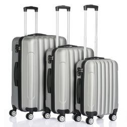 hardside 3 piece nested spinner suitcase luggage