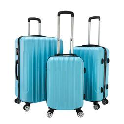 3PCS Travel Luggage Set Bag ABS Trolley Suitcase w/TSA lock