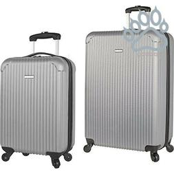 Travel Gear Hardside Spinner Luggage 2 Piece Check-in Carry-