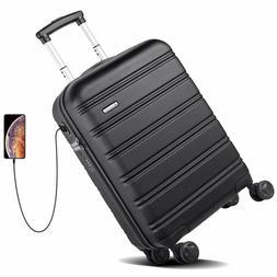 REYLEO Hardside Spinner Luggage 20 Inch Carry On Luggage Lig